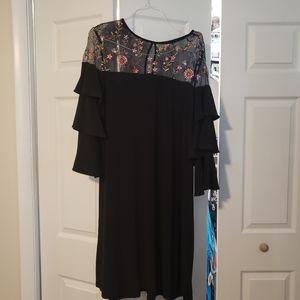 Black mesh shoulder dress Lane Bryant